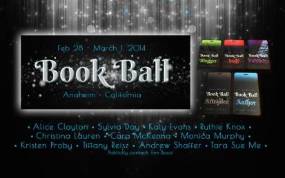 Book Ball 2014 – web design, social media banners andlanyards